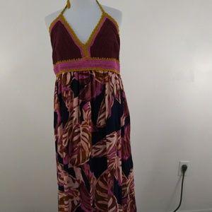 Mossimo Purple Crochet Sundress Maxi Size XXL